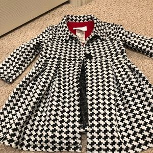 Bonnie Baby Houndstooth pea coat